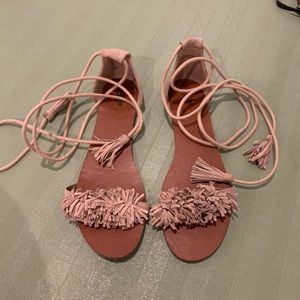 Aquazzura look alike tie around sandals size 9